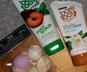 bare foot, bath, and skincare image