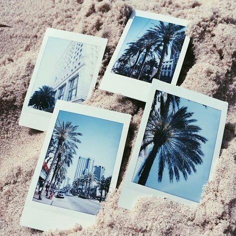 summer, beach, and polaroid image