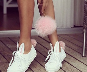 bunny, girly, and sneakers image