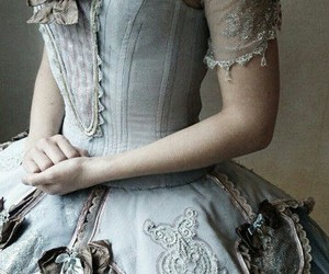 dress, blue, and old image