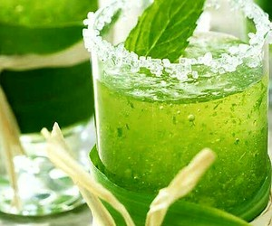 green, drink, and mint image