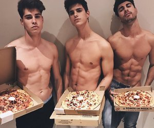 boy, pizza, and Hot image