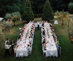 dinner, nature, and party image
