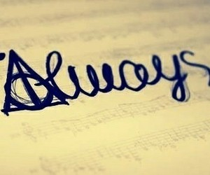 always, harry potter, and love image