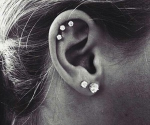 piercing and earring image