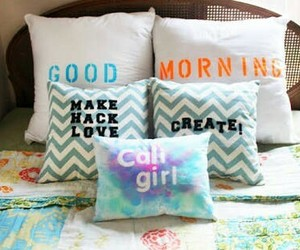 diy, pillow, and bed image