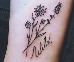 tattoo, flowers, and wild image