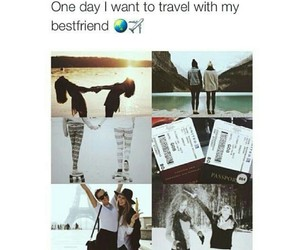 travel, friends, and best friends image