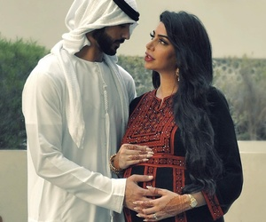 family, middle eastern, and pregnant image