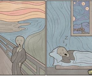 art, funny, and scream image