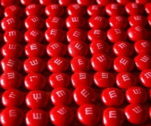red and m&m's image