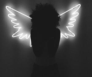 girl, angel, and light image