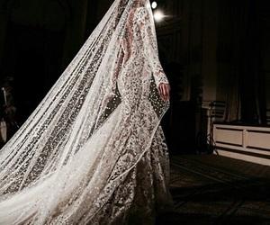 dress, wedding, and luxury image