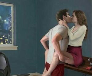 art, couple, and girl and boy image