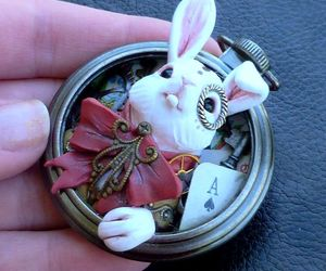 alice in wonderland, art, and watch image