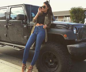 heels, bluejeans, and blacktop image