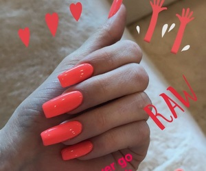 nails, coral, and kylie jenner image