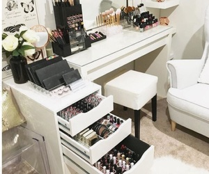 beauty, makeup, and dressing table image