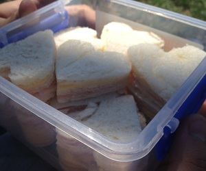 cute food, heart, and sandwich image