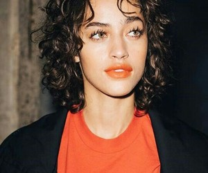 beautifull, curly, and model image