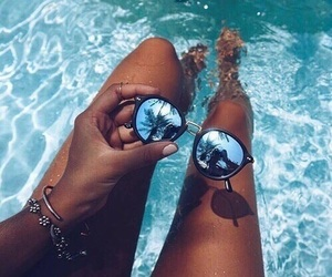 summer, sunglasses, and pool image