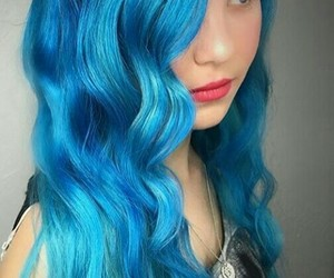 blue hair, color, and girl image