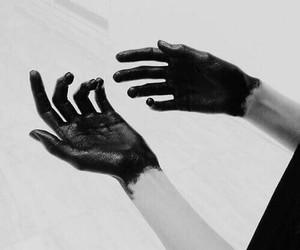 black, hands, and grunge image