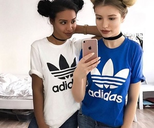 fashion, girls, and adidas image