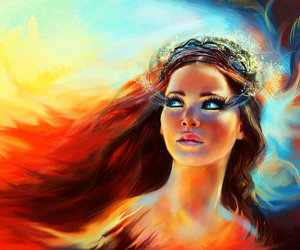 fanart, katniss, and the hunger games image