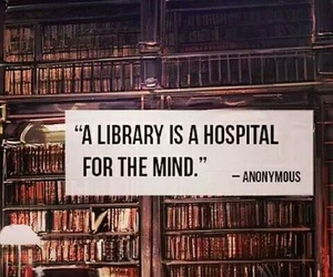 library, mind, and sayings image