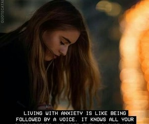 anxiety, quote, and voice image