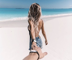 beach, blonde, and inspire image
