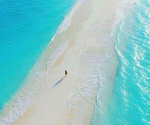 beach, sea, and Maldives image