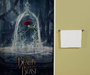 beauty and the beast and shower curtain image
