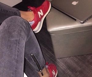 new balance, red, and apple image