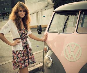girl, van, and volkswagen image