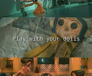 coraline, melanie martinez, and dollhouse image