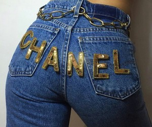 chanel, gold, and fashion image