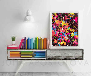 abstract, black, and colorful image