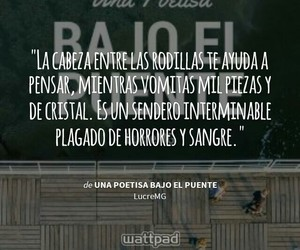 frases, tristeza, and sangre image