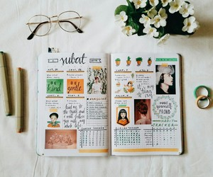 journal, study, and bullet journal image