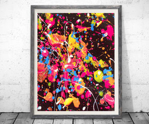 abstract, colorful, and etsy image