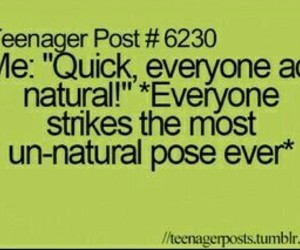 teenager post, funny, and natural image