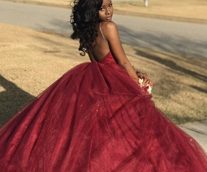 pretty, Prom, and red dress image