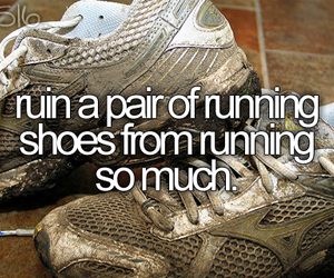 77, running shoes, and bucket list image