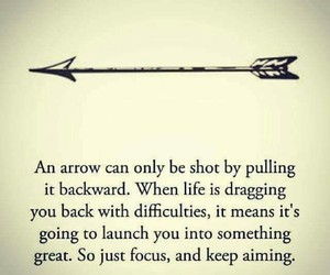 arrow, motivation, and quotes image