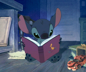 leer, cuentos, and stich image
