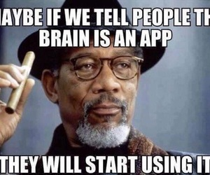 funny, brain, and app image