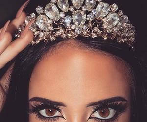 crown, makeup, and Queen image