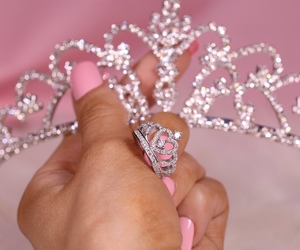crown, nail, and pink image